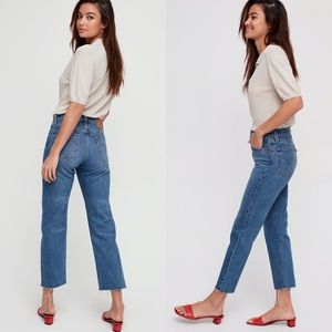LEVI'S Wedgie High Rise Straight Jeans